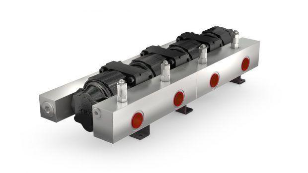 Gear flow divider MTO iron cast